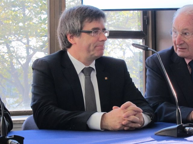 El presidenrte catalán, Carles Puigdemont