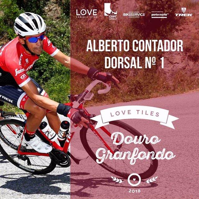 Alberto Contador, dorsal número uno de la Douro Granfondo