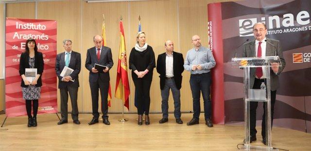 Presentación del Plan Aragonés de Mejora de la Empleabilidad Joven.
