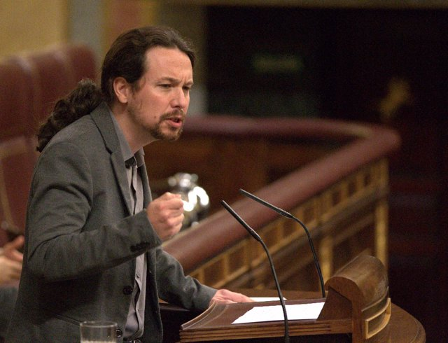 Pablo Iglesias interviene en el pleno del Congreso sobre las pensiones