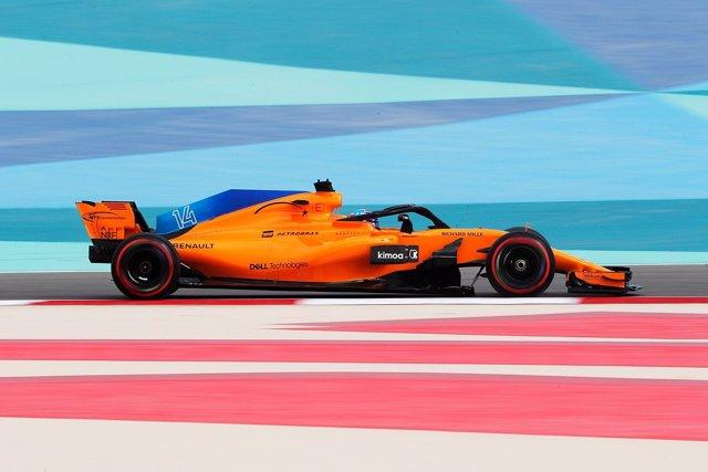 Fernando Alonso (McLaren) en Baréin