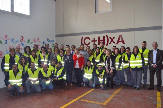 Patricia Franco clausurando el curso para desempleados de Illescas