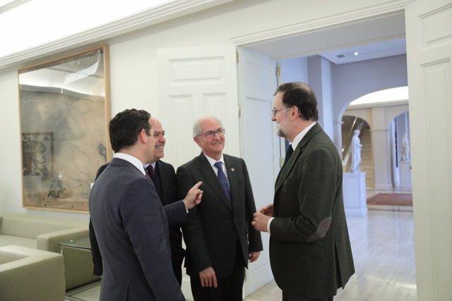 Rajoy recibe a Carlos Vecchio, Julio Borges y Antonio Ledezma
