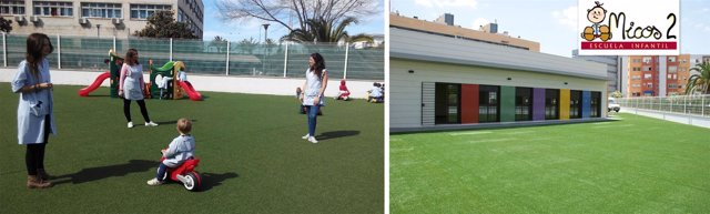 Instalaciones exteriores de la Escuela Infantil Micos situada en Huelva