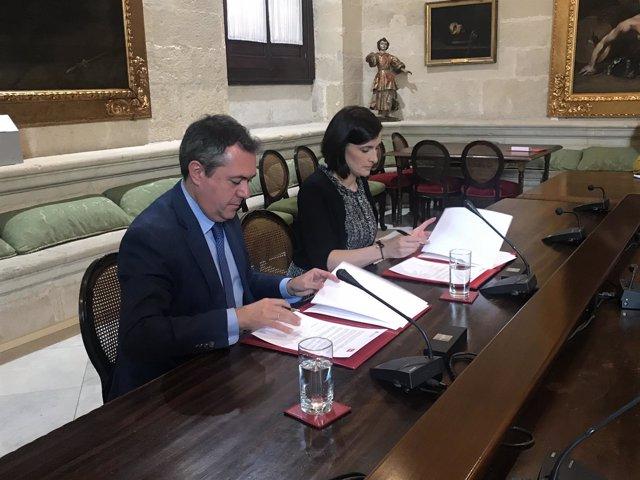 Los alcaldes de Sevilla y Santander, Juan Espadas y Gema Igual, respectivamente
