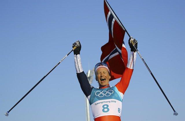 Marit Bjoergen, esquiadora olímpica noruega