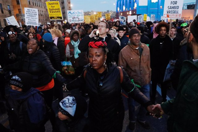 Protestas Brooklyn por Saheed Vassell