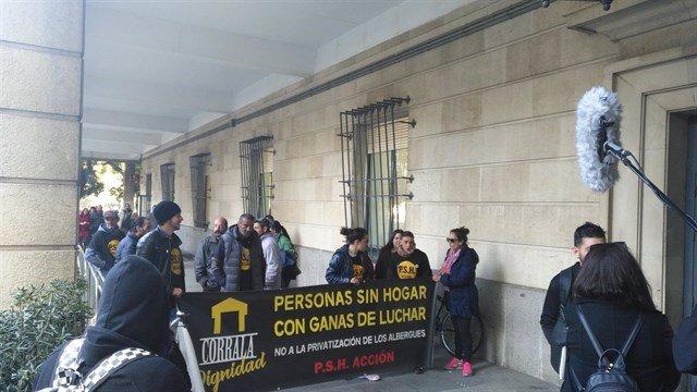 Protesta por el conflicto judicial de la Macarena