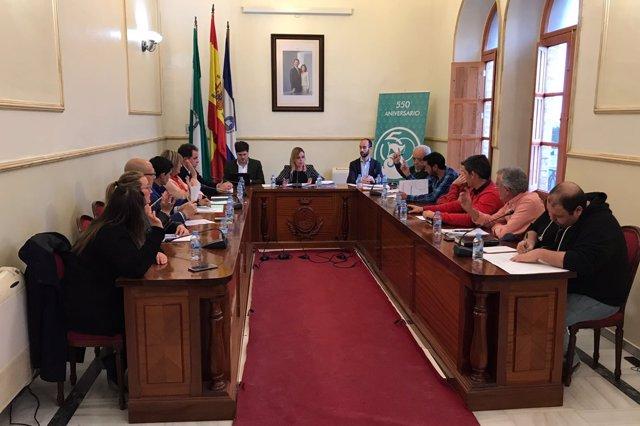 Pleno del Ayuntamiento de San Juan del Puerto (Huelva).