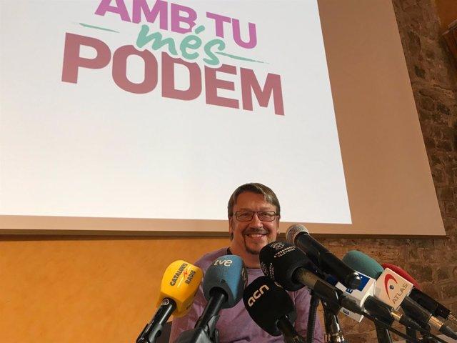 Xavier Domènech presentó su candidatura a liderar Podem (Archivo)
