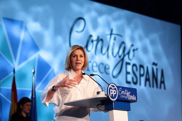 Cospedal interviene ante el plenario de la Convención Nacional del PP