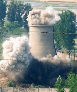 Planta nuclear en Yongbyon, Corea del Norte.