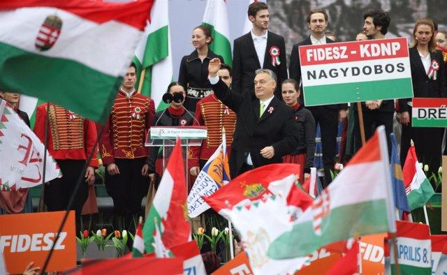 Viktor Orban en un acto en el Día Nacional