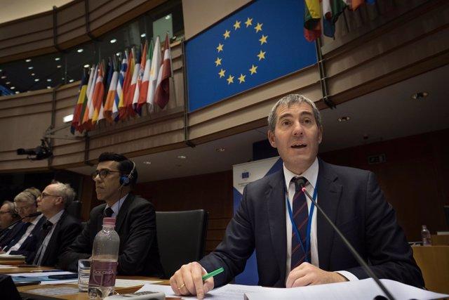 Fernando Clavijo en la Comisión de las regiones