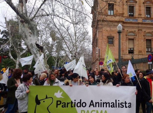Manifestación de Pacma