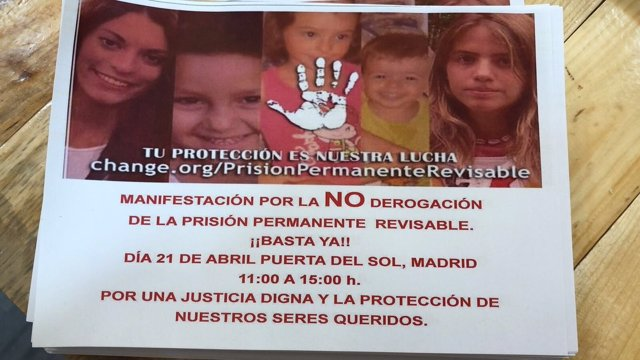 Manifestación por la prisión permanente revisable