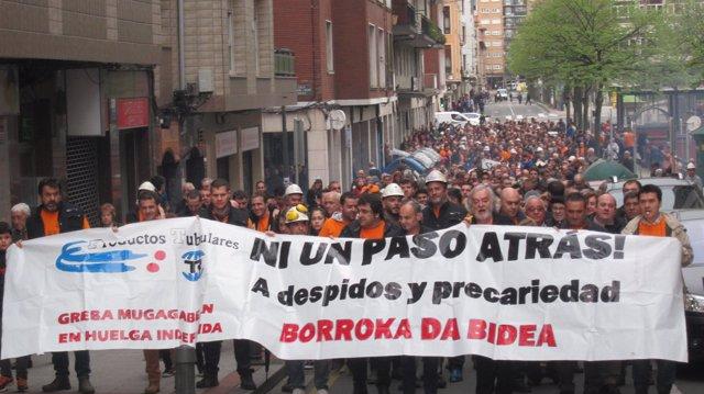 Manifestación De PT En Sestao
