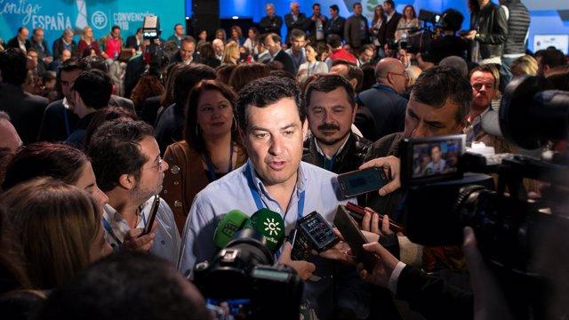 El presidente del PP-A, Juanma Moreno, en la Convención del PP