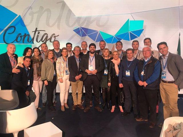 López Miras con la delegación murciana en la Convención Nacional del PP