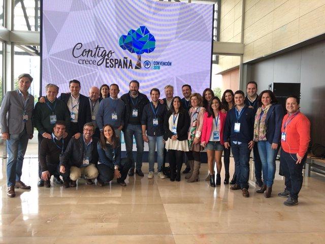 El presidente del PP de Córdoba participa en la Convención del PP