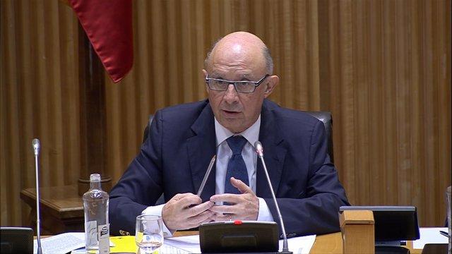Cristóbal Montoro declarando sobre los Presupuestos Generales del Estado