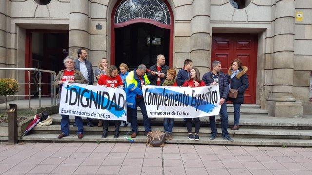Protesta de examinadores de tráfico en Ourense este sábado