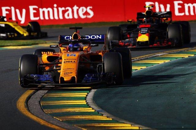 Fernando Alonso (McLaren) en el GP Australia 2017