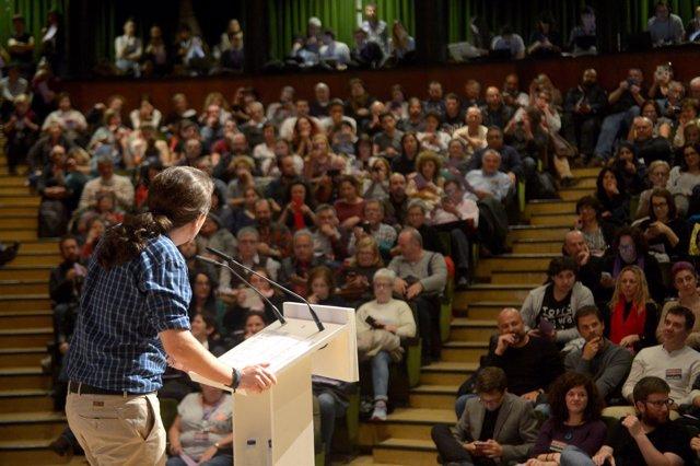 Pablo Iglesias en el encuentro de Podemos 'En Marcha 2019? en la Complutense