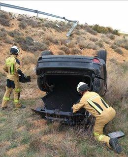 Tres heridas en un accidente de tráfico cerca de Belchite.