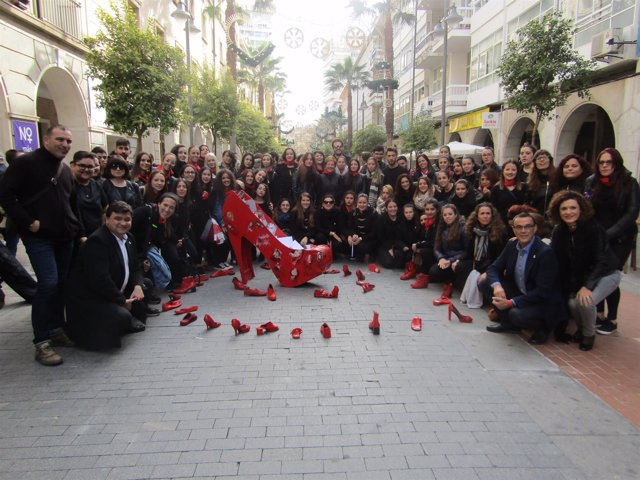 Lectura de manifiesto en Huelva