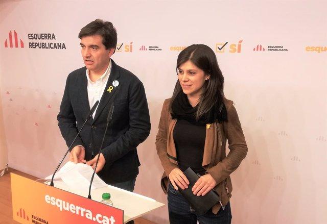 Sergi Sabrià, Marta Vilalta, ERC/ARCHIVO