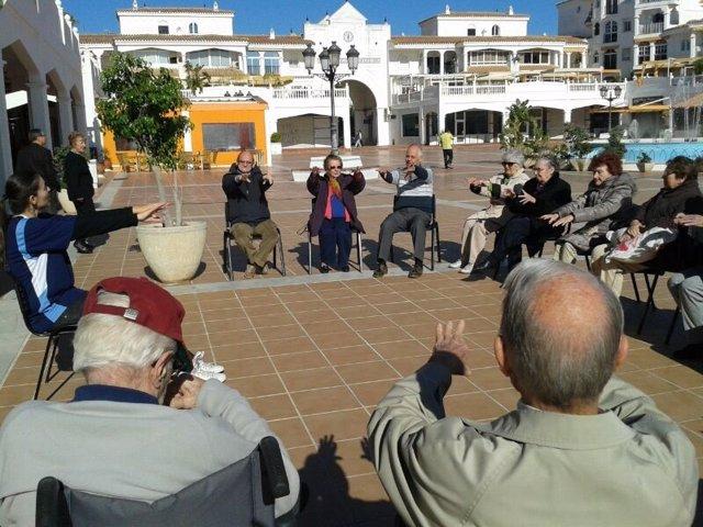 Pacientes con alzheimer en el centro de día de AFAB en Benalmádena