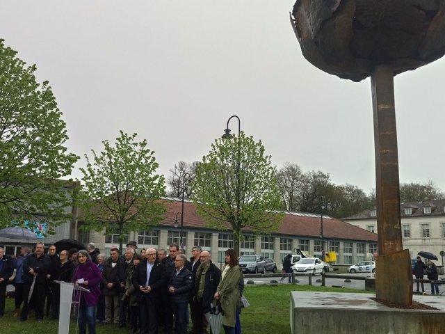 Escultura inaugurada este domingo en Baiona