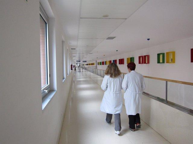 Personal sanitario en el Río Hortega de Valladolid
