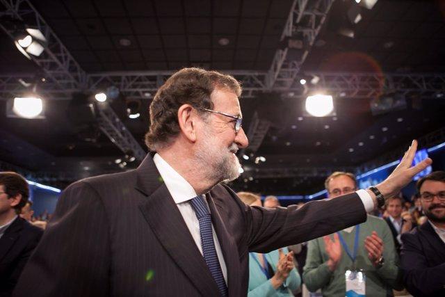 El presidente del Gobierno, Mariano Rajoy, en la Convención del PP