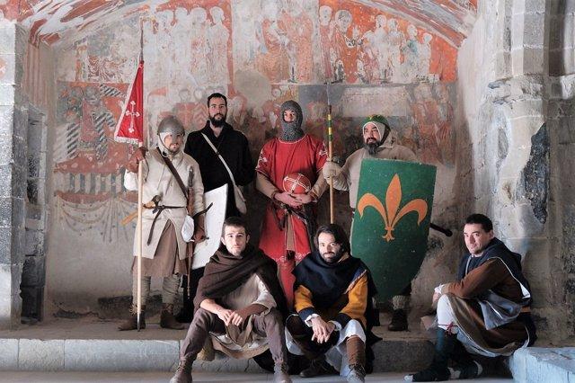 Personajes de la recreación histórica de Montañana.