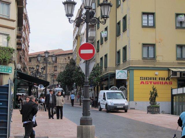 Calle Gascona, en Oviedo