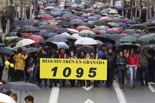 Manifestación 'Granada, tres años sin tren'