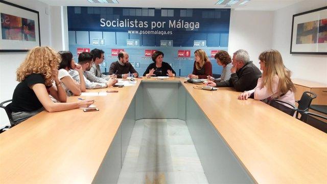 Reunión del Ejecutiva del PSOE con Fuensanta Lima