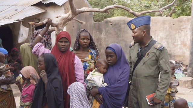 Mujeres y niñas liberadas de Boko Haram