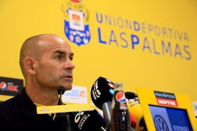 El entrenador de ls UD Las Palmas Paco Jémez