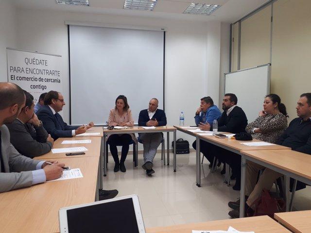 Reunión de la alcaldesa de Córdoba con el sector del comercio