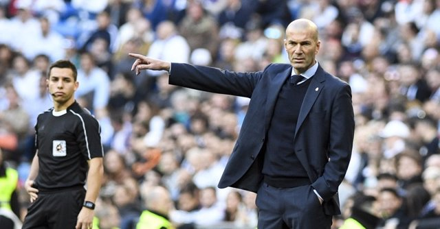 El entrenador del Real Madrid, Zinedine Zidane