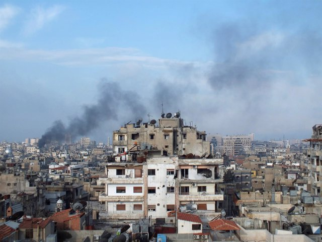 Fotografía de la ciudad de Homs, Siria, el 11 de marzo de 2013