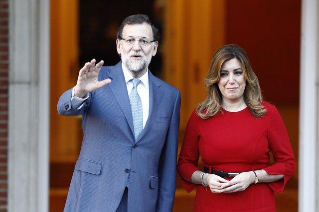 Mariano Rajoy se reúne con Susana Díaz en Moncloa