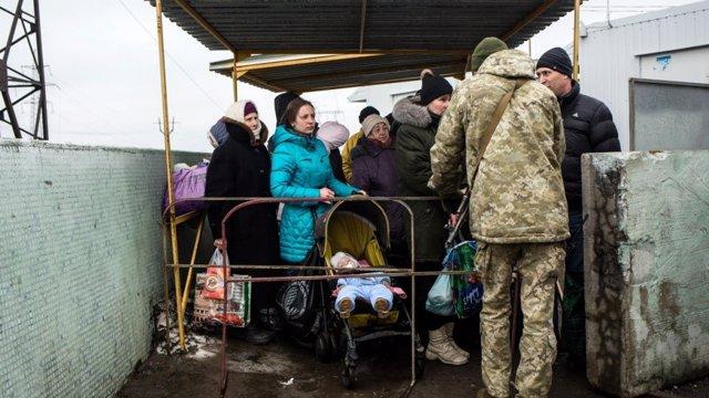 Paso de Mariinka, en Ucrania