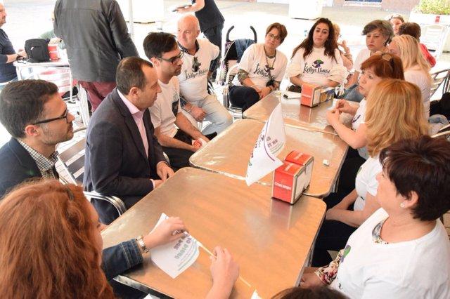 Reunión de Ruiz Espejo con las kellys málaga