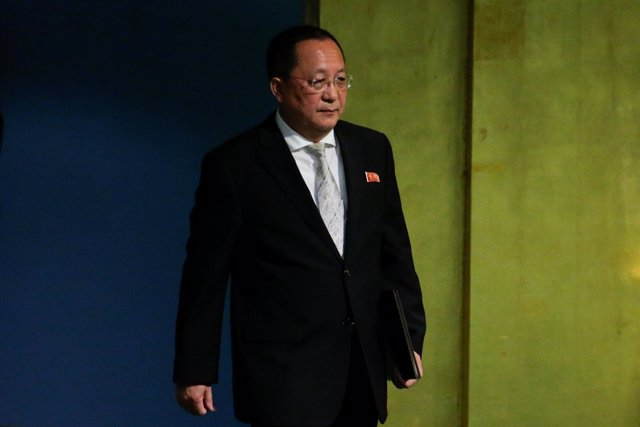 Imagen de archivo del ministro de Exteriores norcoreano, Ri Yong Ho