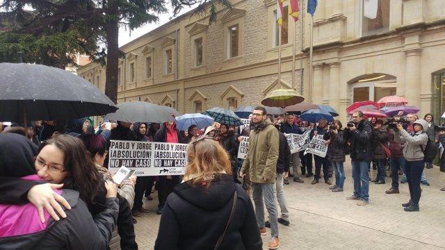 Manifestación de acompañamiento juicio 14N en Logroño