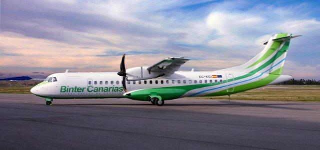 Avión de Binter Canarias